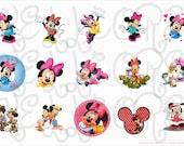 Minnie Mouse(1) bottle cap digital image sheet