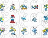 Smurfs cap digital image sheet