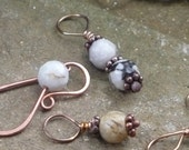 Stitch Markers: Handcrafted Bronze and Gemstone with Matching Holder