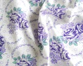 RESERVED for Sachikanoka: floral vintage fabric  antique fabric purple floral fabric french fabric 79 patchwork quilting
