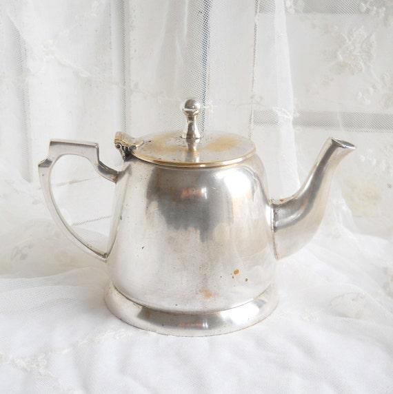 SALE vintage silverplated teapot, vintage teapot, silver teapot, teapot, serving, shabby chic, cottage chic