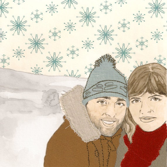 Custom Portrait - Couple  - Simple background