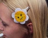 Kawaii Felt Florence Flower Hand Stitched Hair Clip