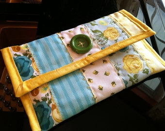 Kindle, Kindle Paperwhite, Kindle Voyage Cover OOAK Handmade Quilted Cotton Springtime