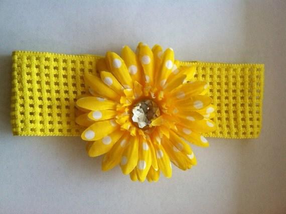 Spring Flower Headband for Little Girls Gerber Daisy Gerbera Daisy