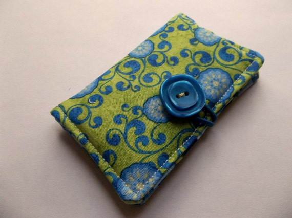 Business Card Holder, Credit Card Holder, Gift Card, Store Card Holder Case - Morning Glories
