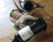 Three Piece Deer Antler Wine Rack