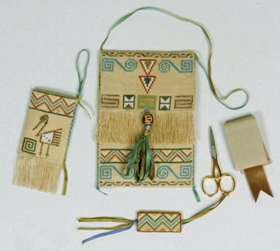 Italian Designer GPA Cross Stitch Chart, Allison's Native American Purse & Accessories, Necklace, Fob, Giulia Punti Antichi