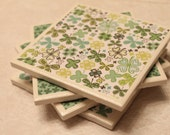 50% OFF St. Patrick's Day ceramic tile coasters