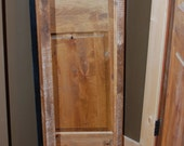 The Kathy Hanging Jewelry Cabinet Armoire with Reclaimed Barnwood framed Mirror
