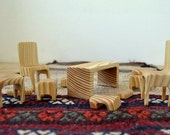 RESERVED for First Time Charm: Wooden doll's furniture set - 11 items in one