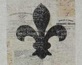 Cotton Pillow Cover - French Fleur de Lis, 14 inch