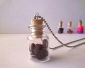 super mini biscuit jar-polymer clay pendant