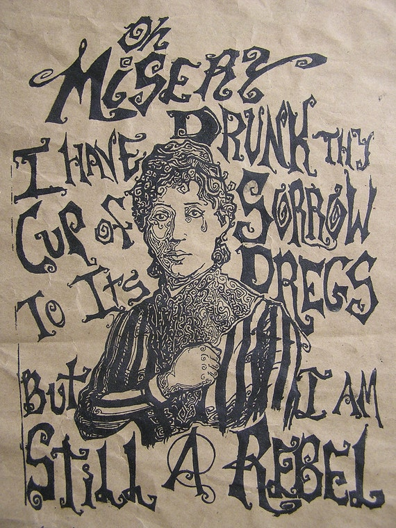 Lucy Parsons- Silk Screen Print on Paper