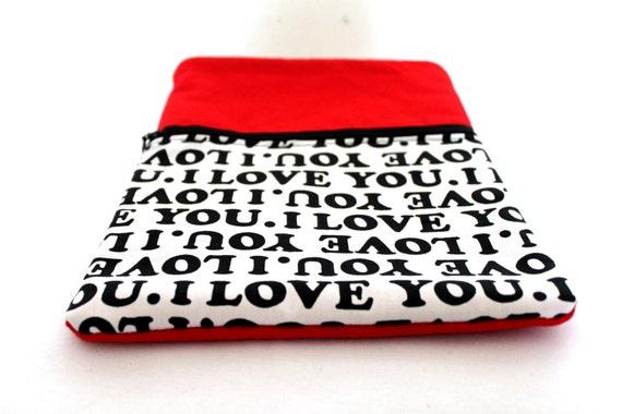 """Macbook Air 11""""- I LOVE YOU sleeve"""