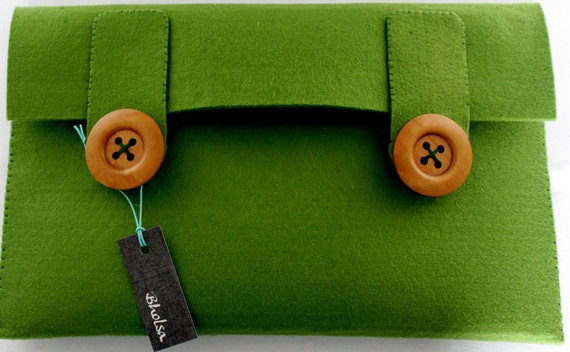 "Macbook Air 11"" 100% Merino Wool Sleeve Green"