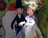 RESERVED Really Cute Parisian Nathalie Lete Paris Bride & Groom Cake Topper New in Box