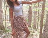 Upcycled Floral Fishtail Skirt