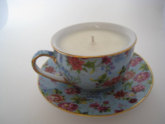 Love Spell Floral Teacup Soy Candle