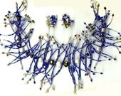 Royal Blue Spikey Bead Necklace
