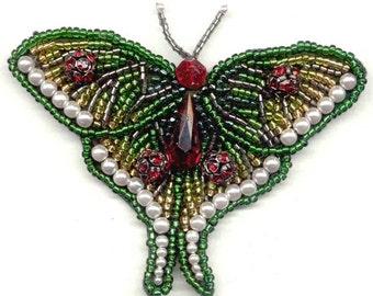 Ruby Butterfly Brooch