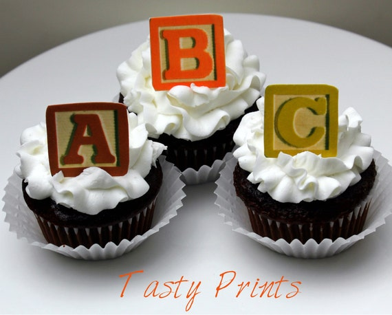 Alphabet Blocks 24 Edible decorations Tasty by TastyPrints