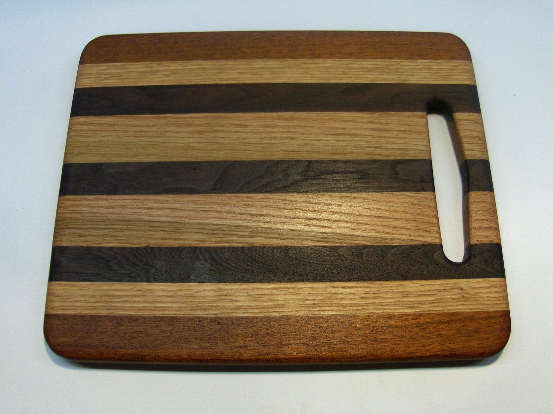 Oak Walnut Mahogany Cutting Board By Garywoodshop On Etsy