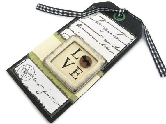 Vintage Love Gift Tag Dimensional Sticker by Kodak
