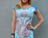 Grateful Dead 30th AnniversaryTunic, reconstructed tie dye mini dress Made to order