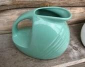 Aquamarine art deco style ceramic vase or pitcher Cantinaware china