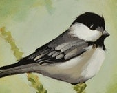 Chickadee Notecard - Blank Note Card - Cheery Greeting - 4.25 x 5.5 Inches - A2