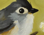 Little Bird -Thank You Card - Blank Note Card - Titmouse Cheery Greeting - 4.25 x 5.5 Inches
