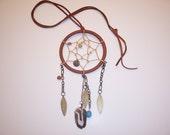 Brown Dream Catcher Necklace
