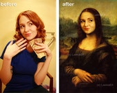 Professional photo collage - Your custom photo on famous paintings