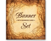 Custom Premade Etsy Shop Banner and Avatar Design Set - 12 Piece with Business Card