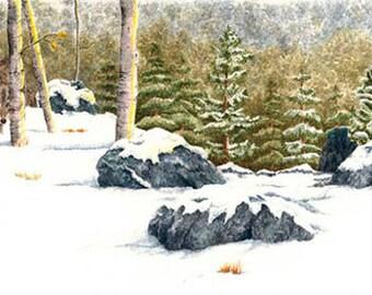 Snowy Wolves print