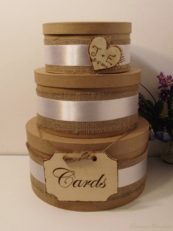 items similar to 3 tier rustic wedding card box wedding