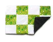 Cat mat pad - green and white cat bed - patchwork cat pad