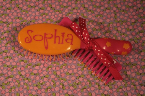 Little Girl Hairbrush/Comb Set - Personalized