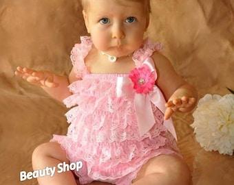 Pick ONE Baby Girl Lace Posh Petti Ruffle Rompers headband hair bow S M L XL