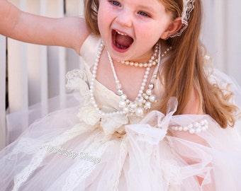 bride flower girl TuTu dress, baby TuTu, girl TuTu dress perfect for pictures.