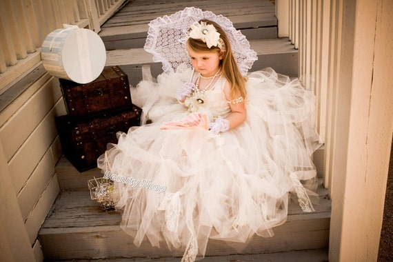30%off bride flower girl TuTu dress, baby TuTu, perfect for pictures. available 24 M - young girl