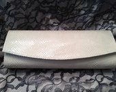 The Cambridge Clutch - Cream Embossed Faux Snakeskin - to benefit EACH
