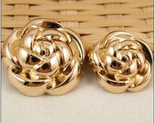 Metal buttons- Clothing Accessories DIY Metal Buttons Rose buttons,five sizes can be chosen 15mm(10pcs,0.6'')