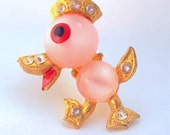 Vintage Jelly Belly Duck with Rhinestones from 1940's