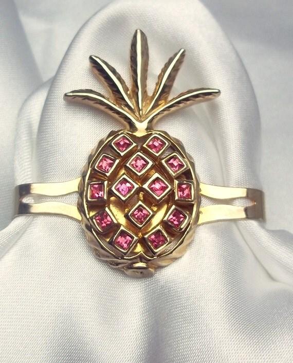 Vintage Pineapple Tie/Scarf Clip