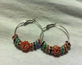 Small Hoops with Multi-colored spacers