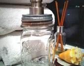 Mason Jar Soap Dispenser, CLEAR small pint