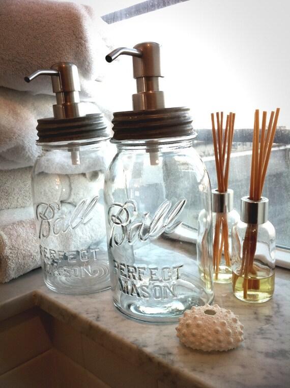 PAIR OF Mason Jar Soap Dispenser