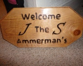 Carved, Burned, Stained, and Glossed Custom Sign